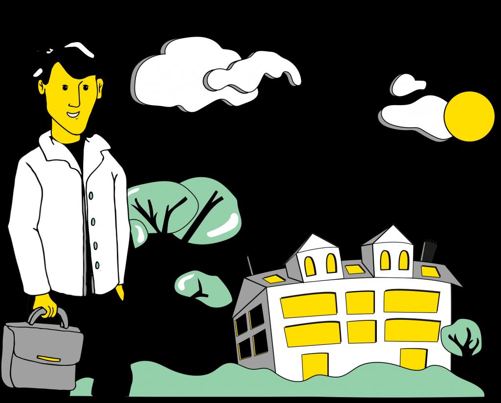 illustration-homme-d-affaire-et-ville-en-arriere-plan